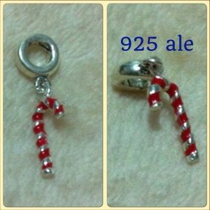 Jewelry - Christmas Candy Cane Ale 925 Stamped Charm